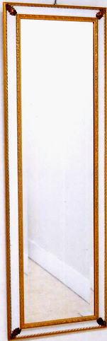 【代引不可】イタリア製壁掛けミラー ウォールミラー 角形 48×146 8kg 10P27May16