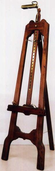 【イタリア製】 ポプラの古木と真鍮(ブラス)のイーゼル ライト付き(1灯) 10P27May16