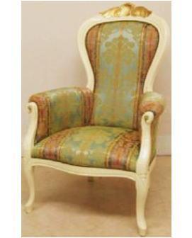 【アンティーク家具が安い店】イタリア製高級ハイバックアームチェアー 10P27May16