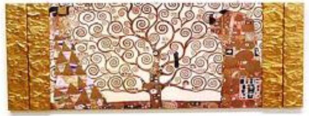 イタリア製アートフレーム クリムト 額絵 アート135×50  8kg 10P27May16