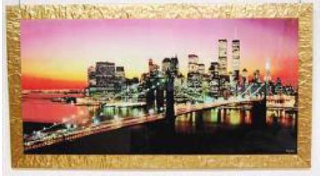 イタリア製アートフレーム 風景 額絵 アート155×85 18kg 10P27May16