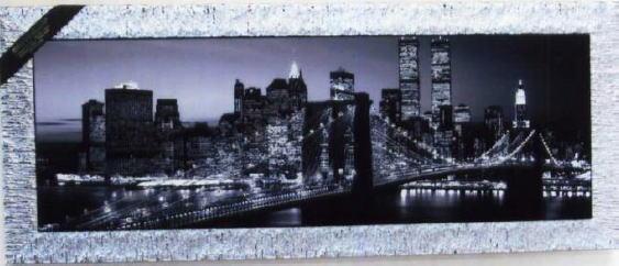 イタリア製アートフレーム 景色 絵(Brooklyn Bridge) アート155×3×64 10P27May16