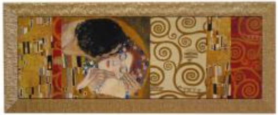 イタリア製アートフレーム クリムト 額絵 アート154×64 8kg 10P27May16