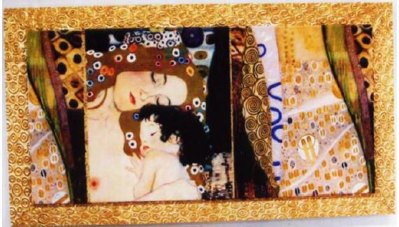 イタリア製アートフレーム クリムト 額絵 アート160×5×90 7kg 10P27May16