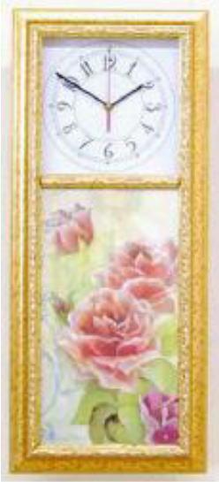 【イタリア製】壁掛け時計 額がお洒落なフラワーウォールクロック 10P27May16
