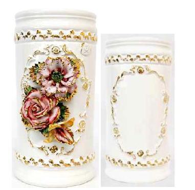 【イタリア製】テラコッタ傘立て 花瓶 陶器アンブレラスタンド ゴールド 10P27May16