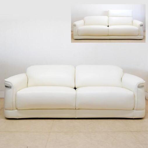 イタリア製 本革ソファー(ベージュ)2.5シーターソファー レザー二人掛け イス 椅子 10P27May16