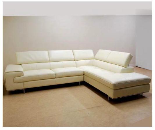イタリア製 本革ソファー(ベージュ)コーナーリビングソファー レザー イス 椅子 10P27May16