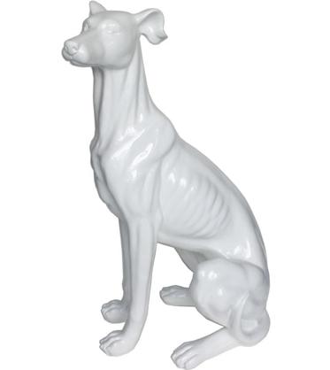 オブジェ 置物 動物 犬 ドッグ(グレーハウンド)