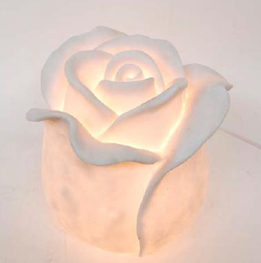 ランプ 照明 オブジェ 置物(rose bud)花 ローズ