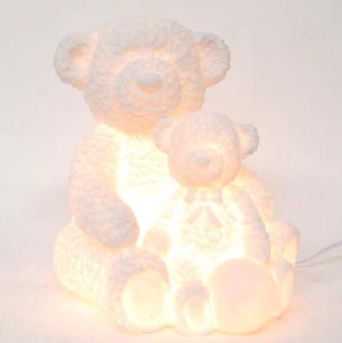 ランプ 照明 オブジェ 置物(bears)ベア クマ