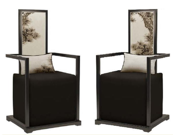 【受注発注商品】【明清古典家具】一人用椅子 客間用椅子 イス2客セット 10P27May16