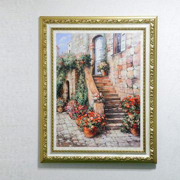額縁 絵画 イタリア製 アートフレーム 額絵 大型アート 風景