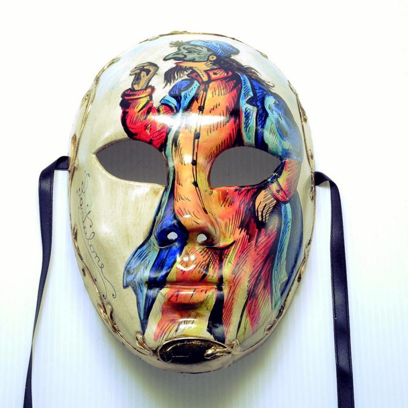 素敵なアイテム!《イタリア製》ベネチアンカーニバルマスク》フルフェイス パンタローネ ハロウィン クリスマス