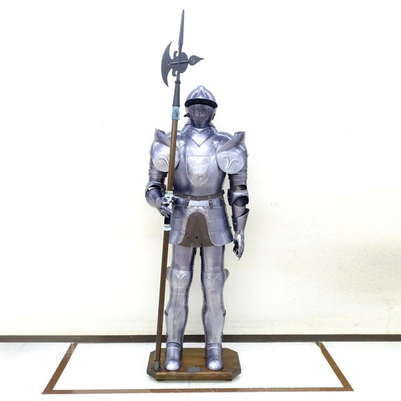 素敵なアイテム!《イタリア製》 西洋甲冑 鎧 実寸大 中世の騎士 ヨーロッパ 西洋武具 アーマー 184cm ランス 獅子の紋章