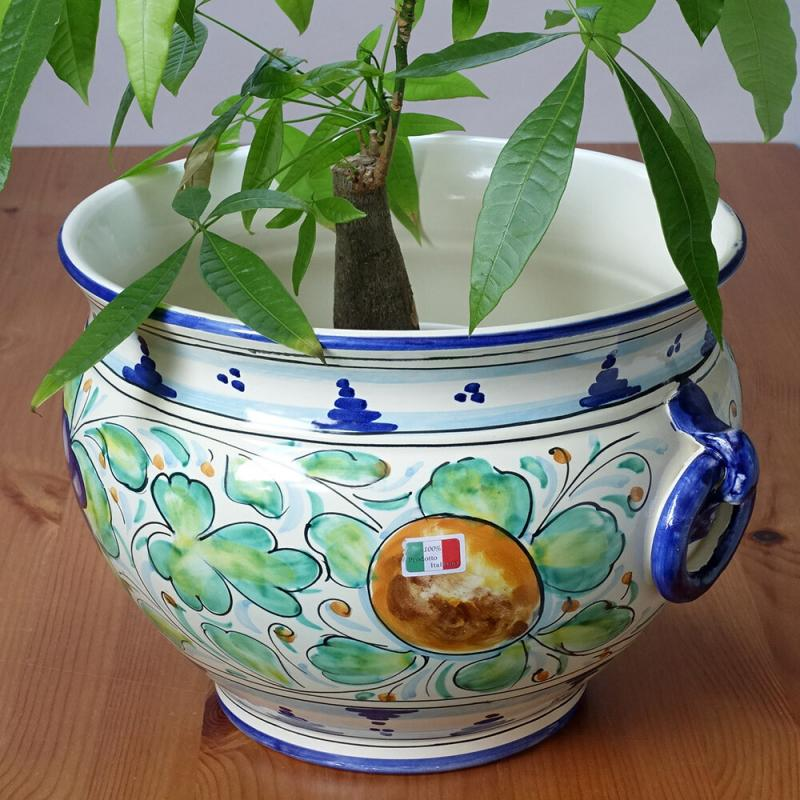 素敵なアイテム!《イタリア製》傘立て 陶器製 プランター フルーツ ハンドペイント
