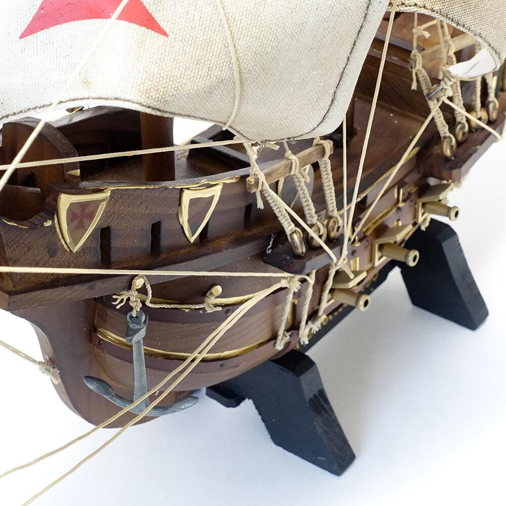 素敵なアイテム!《イタリア製》 モデルシップ サンガブリエル号 バスコ・ダ・ガマ 帆船模型 完成品 アンティーク風
