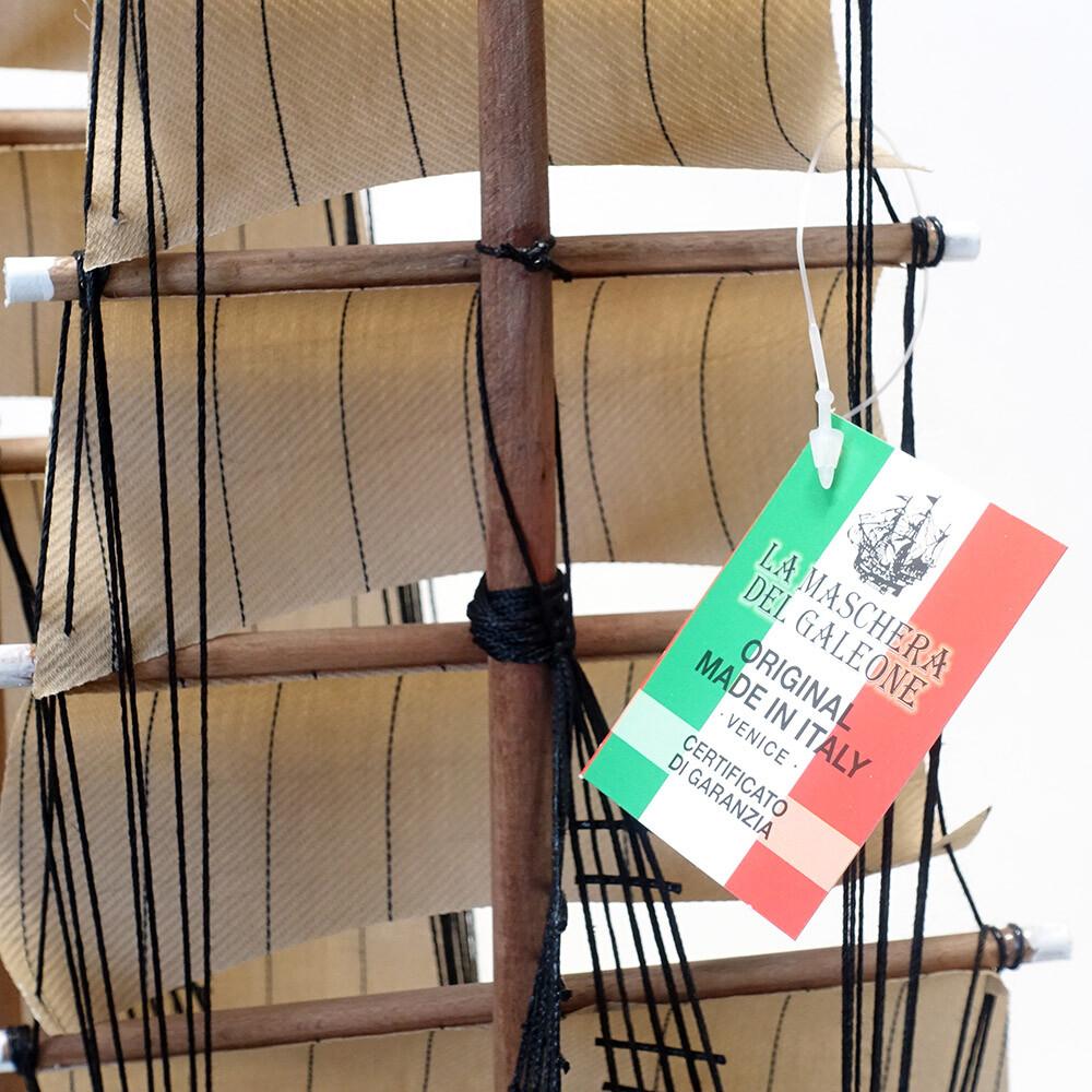 素敵なアイテム!《イタリア製》 モデルシップ フリゲート 快速帆船 フラガタ フランス革命 アンティーク風