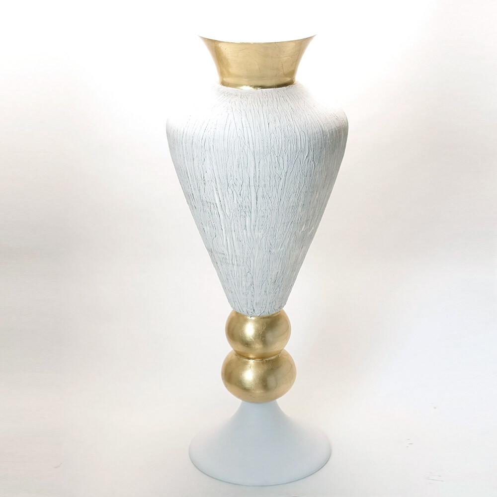 素敵なアイテム!《イタリア製》 ナポリ ガラス 花器 アンティーク調 ボウル 花瓶 装飾 アート オブジェ ビッグ フラワーベース