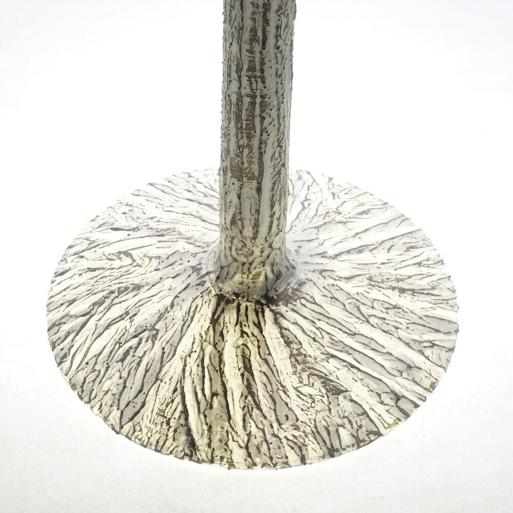 素敵なアイテム!《イタリア製》 ナポリ ガラス 花器 ベージュ マティーニグラス 花瓶 装飾 アート オブジェ フラワーベース