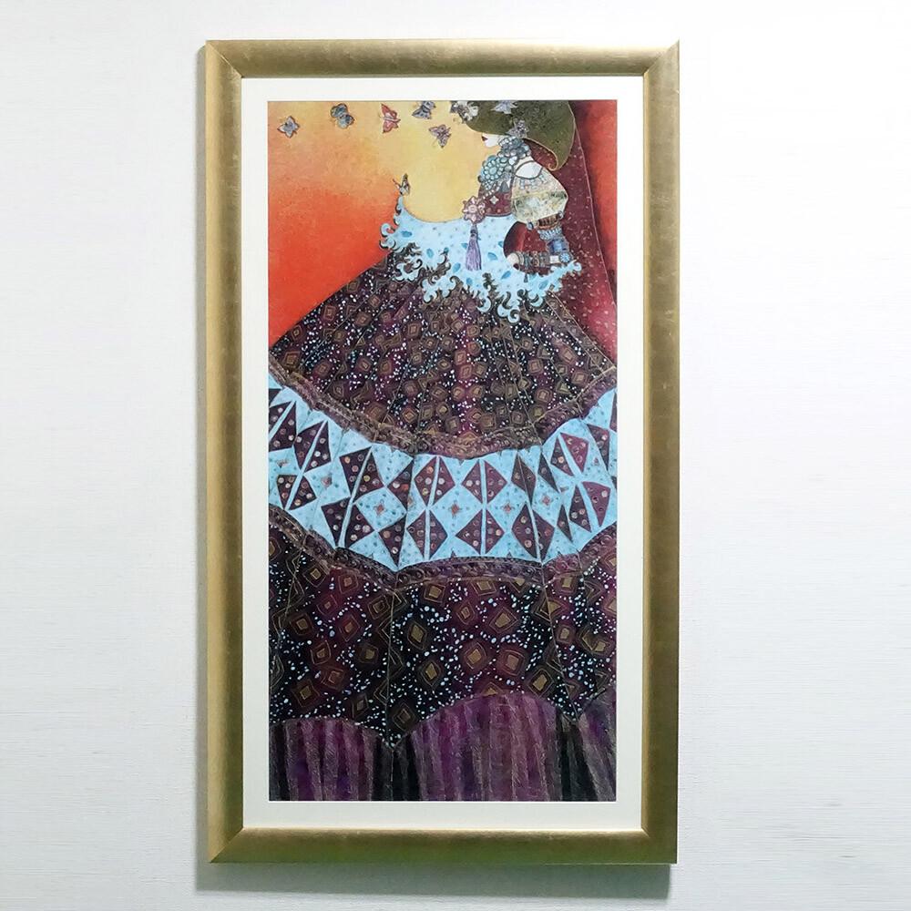 素敵なアイテム!《イタリア製》 アートフレーム VALERIE MAUGERI ヴァレリー・モージュリ作 蝶のためのメロディ