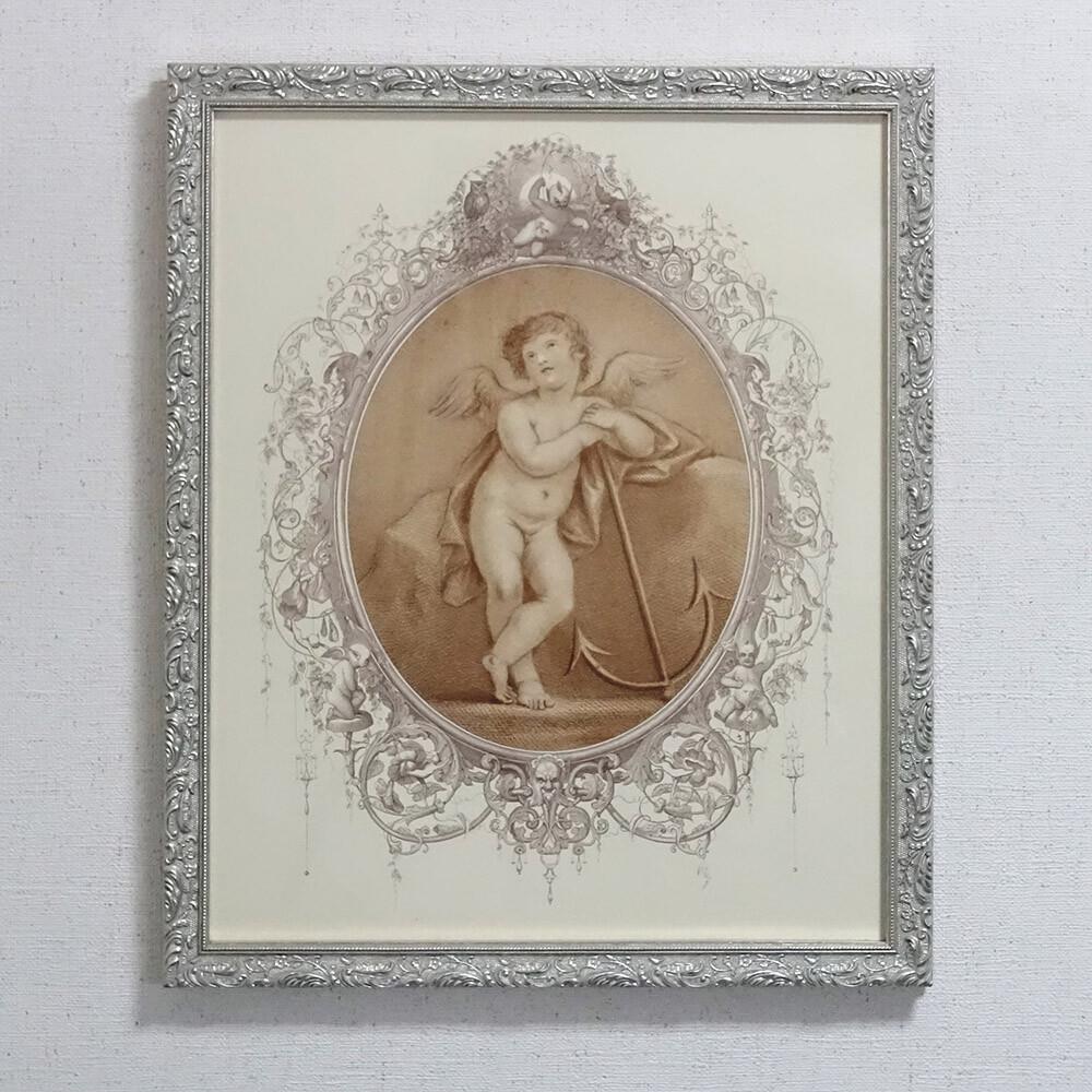 素敵なアイテム!《イタリア製》 アートフレーム エンジェル 天使といかりフランチェスコ・バルトロッツィ