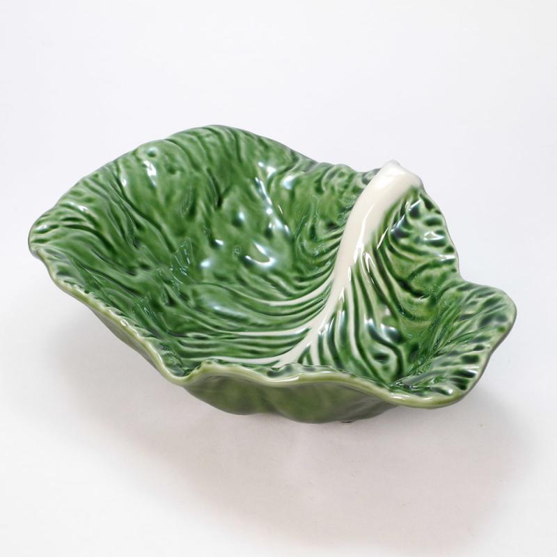 35cm キャベツ 大鉢 サラダボウル ポルトガル製 陶磁器 深皿  食器