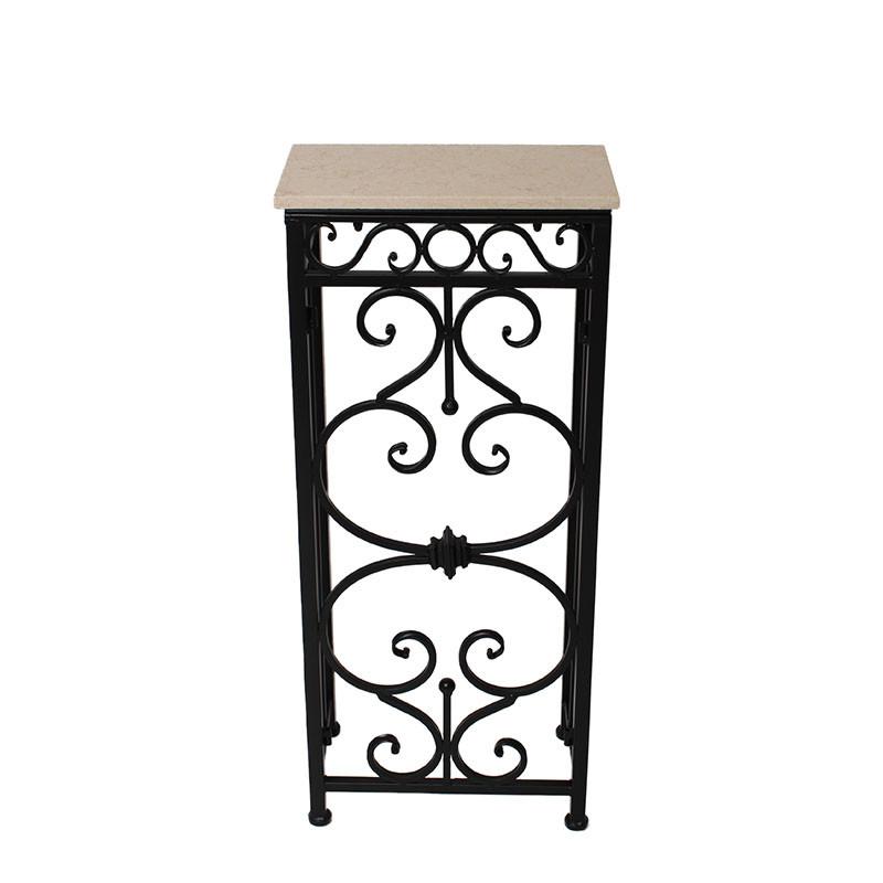 大理石コンソールテーブル アイアン サイドテーブル 花台 飾り台