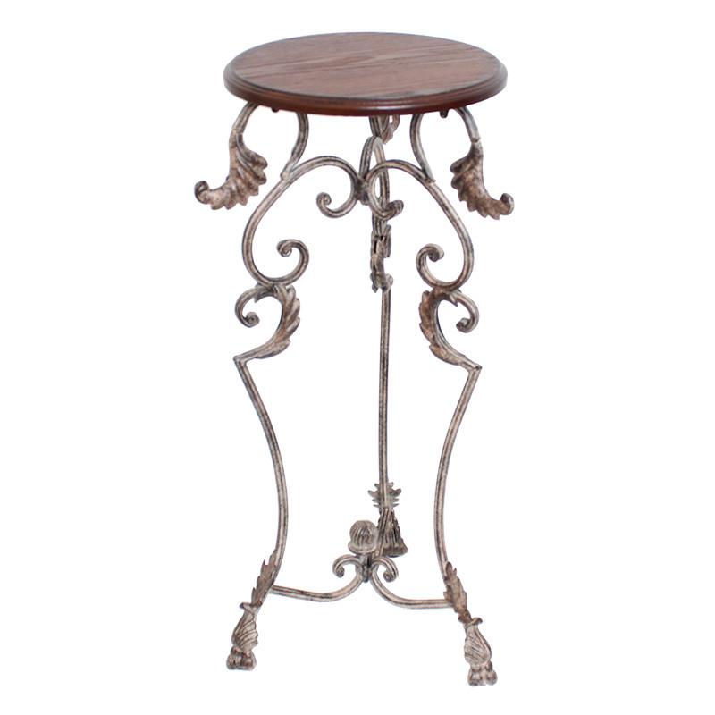 アイアンサイドテーブル 花台 アンティーク調 ヨーロピアン 猫脚