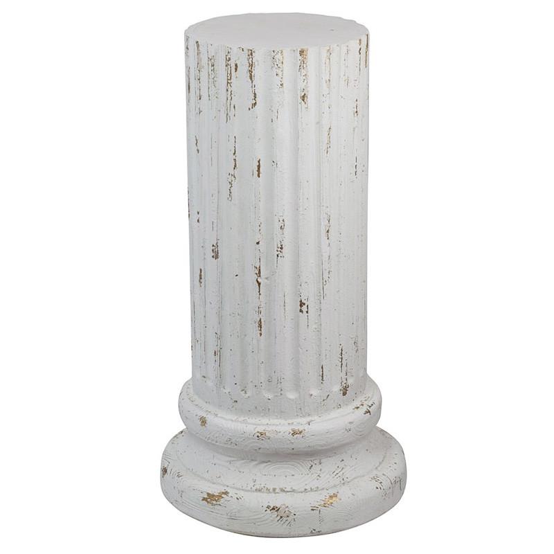 コラム 柱脚 オブジェ 置物 インテリア アンティーク調 シャビーシック
