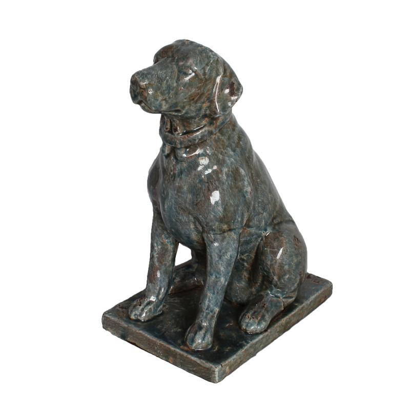 ドッグオブジェ 置物 陶器 イヌ 犬 いぬ フォックステリア ジャックラッセルテリア