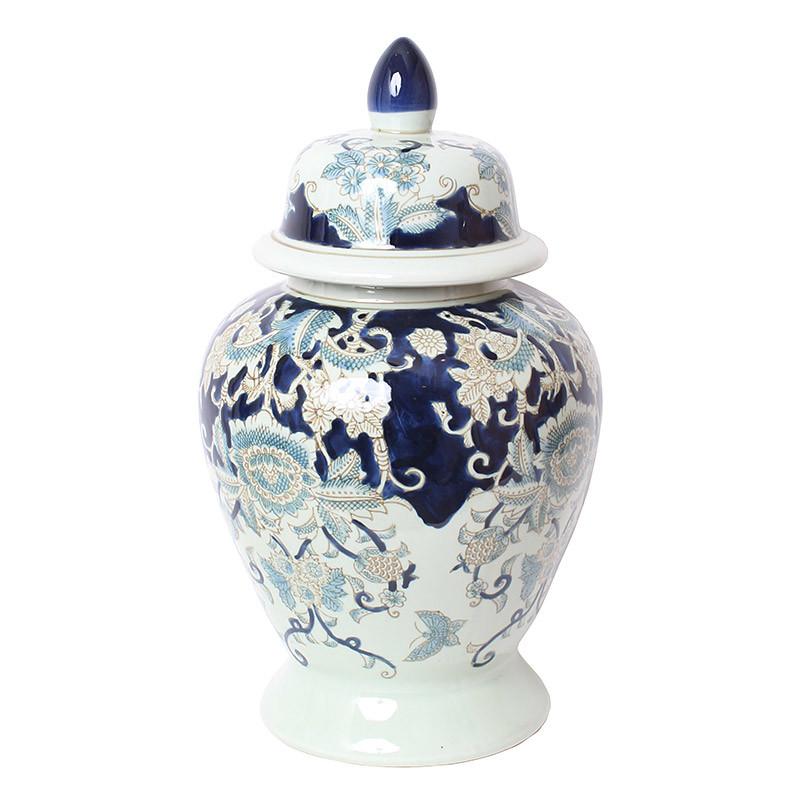 壺 ツボ 蓋付き 飾り壺 大型