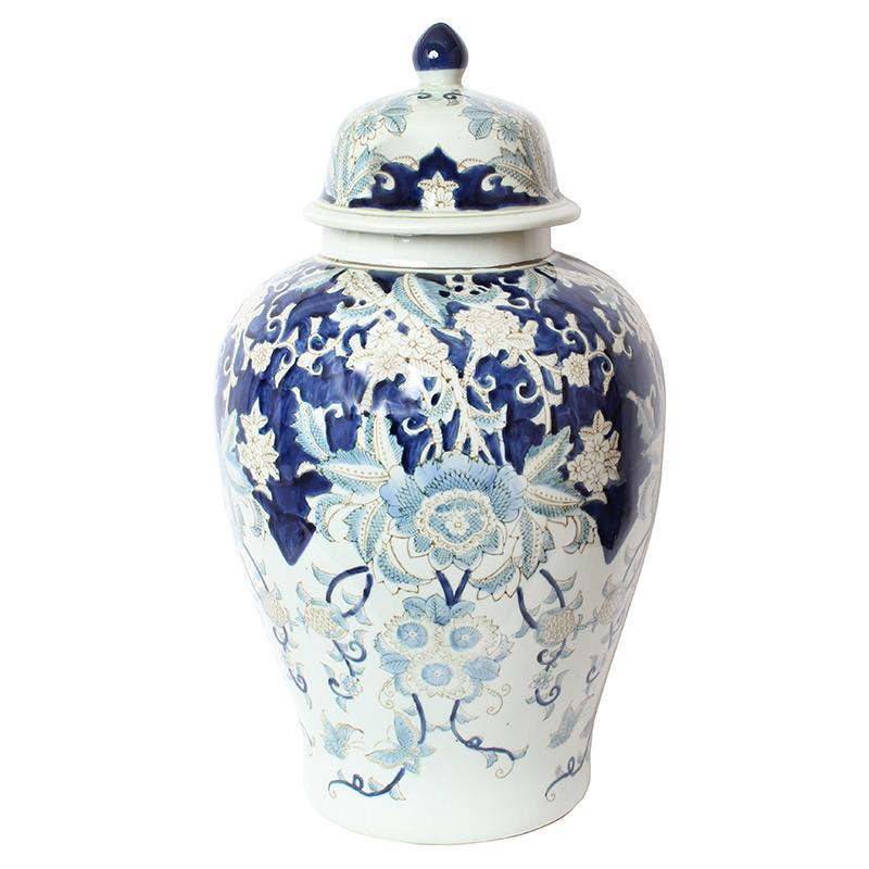 壺 ツボ 蓋付き 飾り壺 大型 置物 陶器