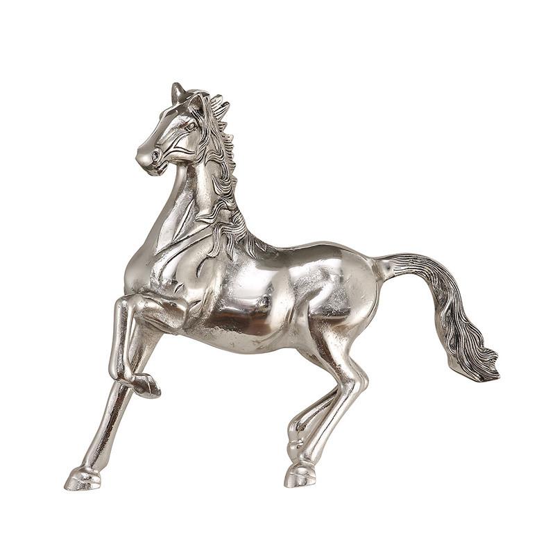 アニマルオブジェ ホース 馬 シルバー