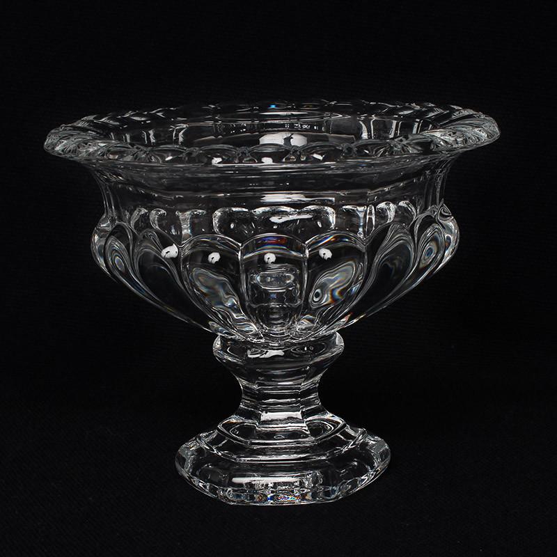 コンポート フラワーベース 花瓶 クリアガラス お洒落