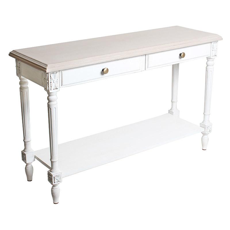 コンソールテーブル デスク ホワイト 白 北欧 木製 お洒落 花台 玄関 猫脚 ディスプレイ台