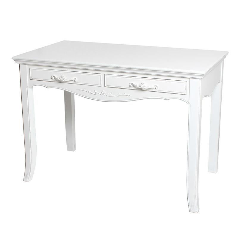 テーブル デスク ホワイト 白 北欧 木製 お洒落 花台 電話台 玄関 コンソールテーブル 猫脚