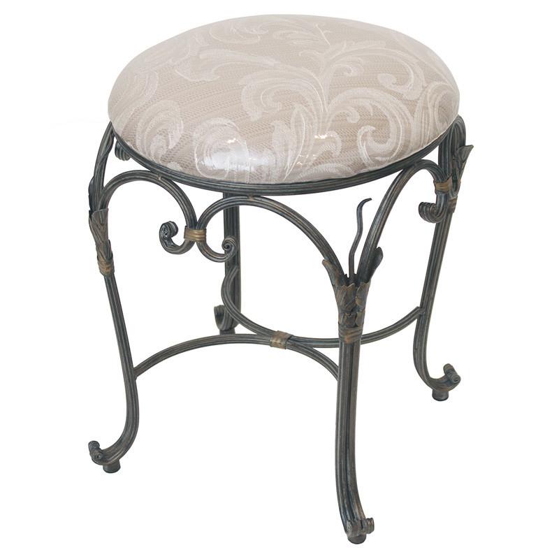 【送料無料】ロートアイアン 丸型スツール椅子いす ネコ足猫足◆背もたれ無し
