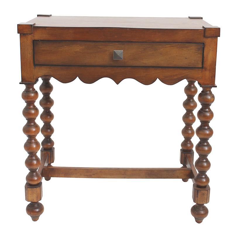 【送料無料】ウッド製 木製 コンソールテーブル 飾り置き台 ウッドテーブル 受付台 ボビンターニングレッグ 木目