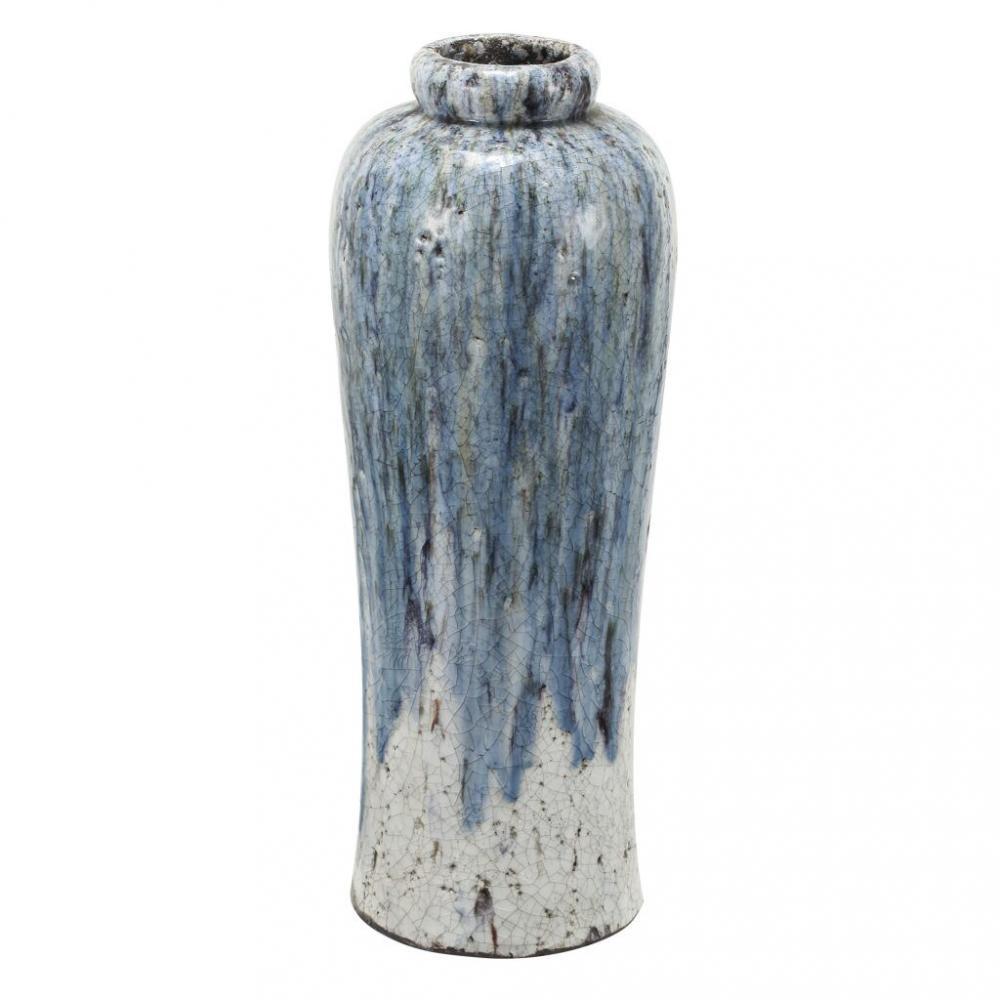 素敵なアイテムフラワーベース 花瓶 大型 陶器 おしゃれ 青 ブルー