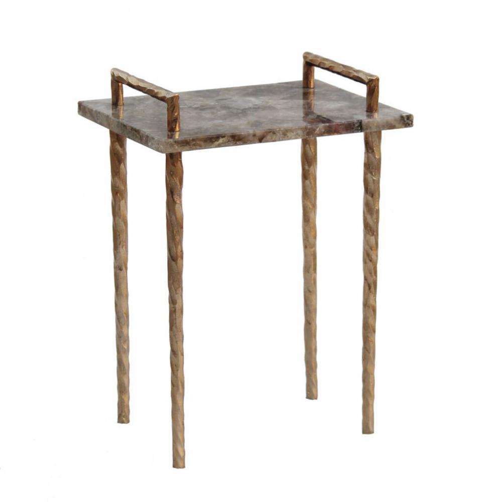 素敵なアイテムめのうサイドテーブル