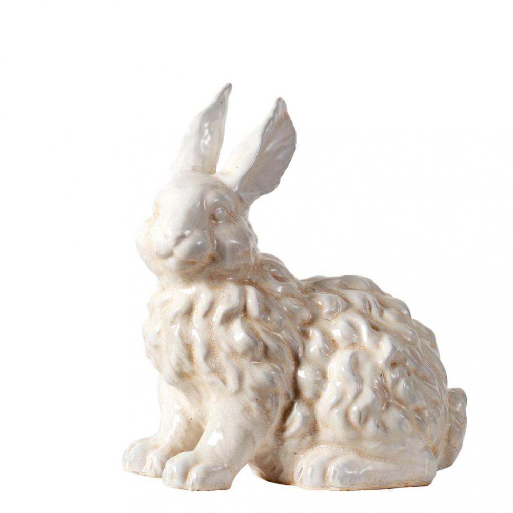素敵なアイテム陶器ウサギのオブジェ 置物 うさぎ