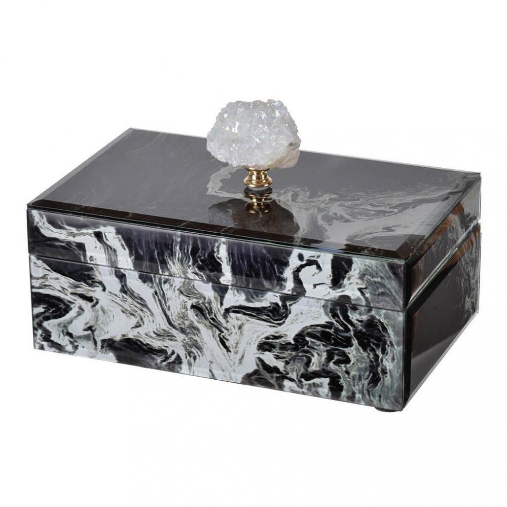 【素敵なアイテムです】ガラスボックス マーブル柄 ジュエリーボックス 宝石箱 BOX