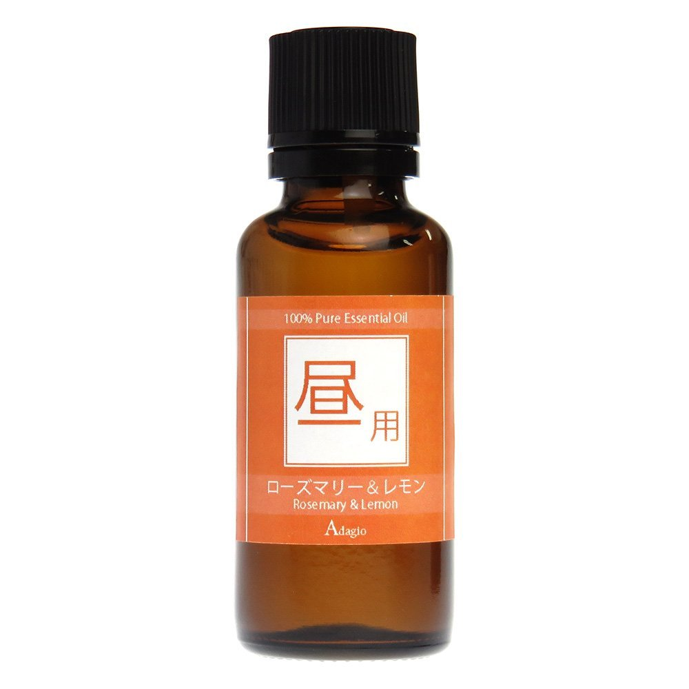 【Adagio】昼用 ブレンド エッセンシャルオイル 100% 精油 ローズマリー & レモン 30ml アロマオイル 02P01Oct16