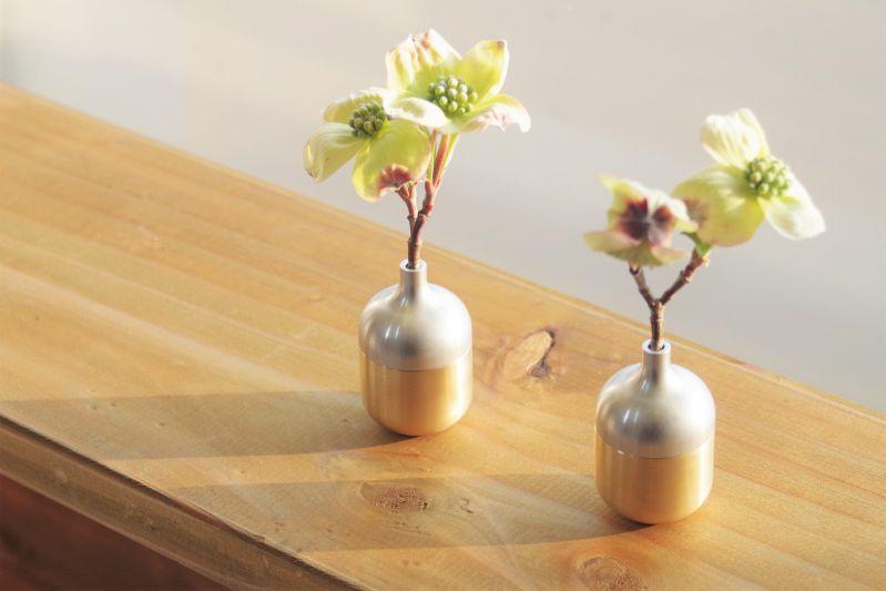 Rakuten & The fashion art object present gift that the flower base mini-size ornament that small vase field flower pot (field flowerpot) Sion metal brass ...