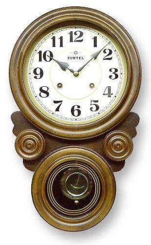 さんてる 渦ボン振り子時計 QL687 (文字盤:アラビア数字 ローマ数字)ペンデュラムクロック ボンボン時計 アンティーク 重厚 高級感 レトロ クラシック クラシカル ヨーロピアン ヨーロッパ調 大きめ ピアノ線 昔ながら 懐かしい アナログ式 時計職人 手づくり
