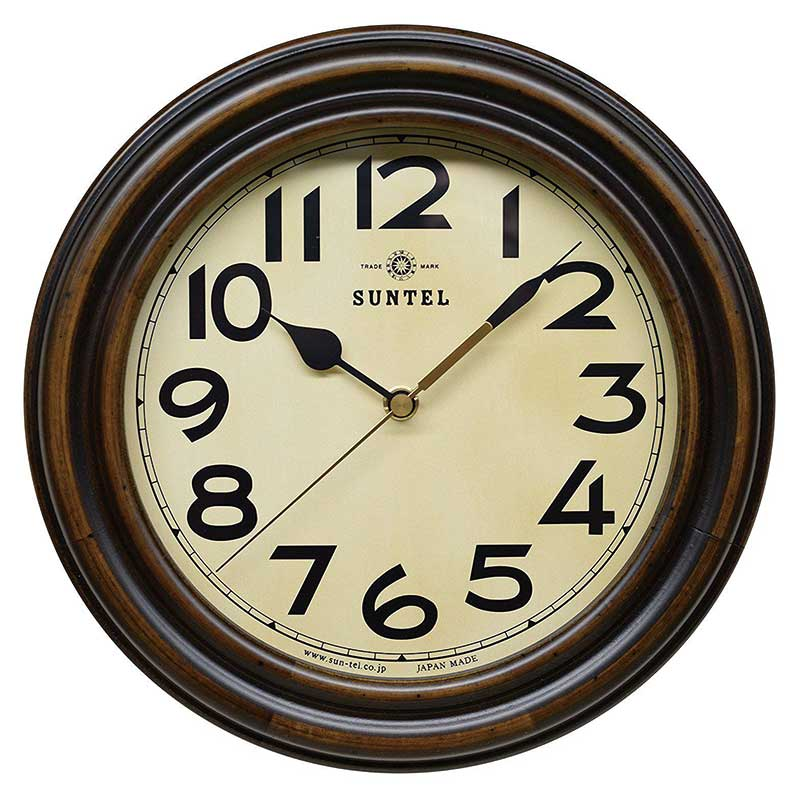 さんてる 壁掛け電波時計 DQL668 昭和デザイン 時計 壁掛け時計 国産 ウォールクロック レトロ アンティーク 職人の手作り ヴィンテージ アナログ時計 日本製の時計 スイープムーブメント 秒針 振り子式 振り子時計 手づくり 天然木材 国産【新生活】