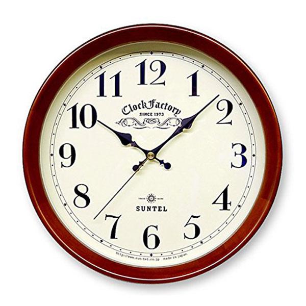 さんてる 壁掛け電波時計 DQL662 アンティーク クラシック 無音の壁時計 電波時計 音がしない壁掛け時計 国産 ウォールクロック スイープ さんてる アンティーク 職人の手作り 電波時計 日本製の時計 BR NA【新生活】, 群馬町:c921ea5a --- jpscnotes.in