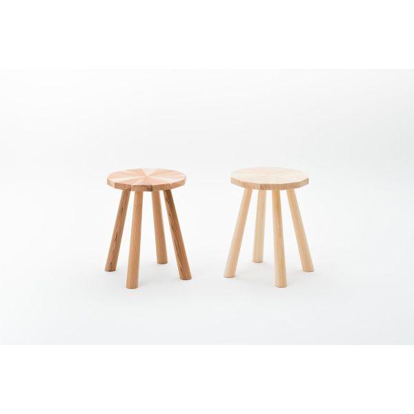 KIKOE HANACHIシリーズ スツール 木造りの椅子 《桧 杉》インテリア 新生活 いす イス ひのき 職人 家具【新生活】