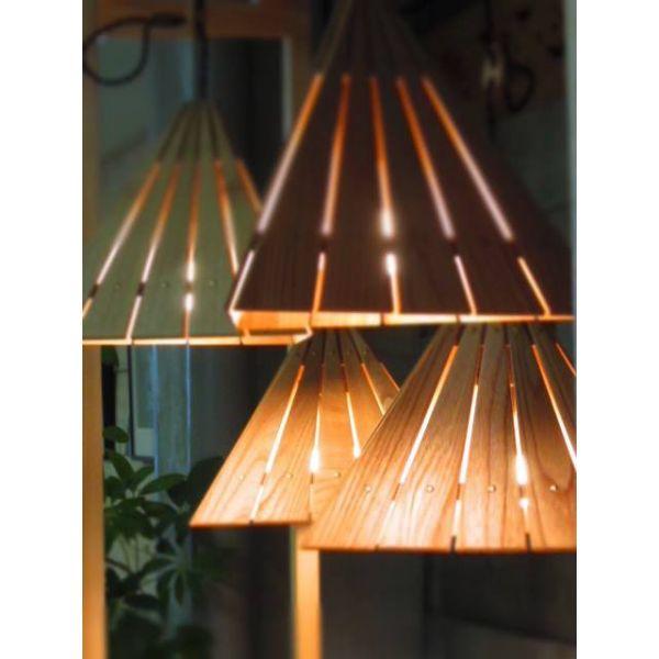 家具工房たいむ 木製ペンダントライト Delta Light 作家 天然木 照明 天井照明【お中元ギフト】